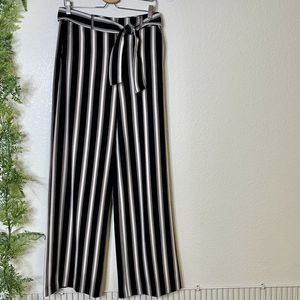 New York & Company Striped Wide Leg Pants 4 Tall